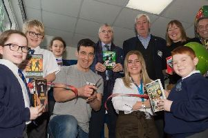 Childrens author Tom Palmer was given the honour of officially opening Wargrave Primary School's new reading nooks.