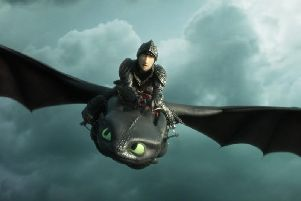 A scene from How To Train Your Dragon: The Hidden World