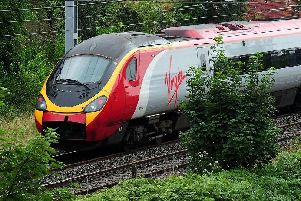 A Virgin high-speed train