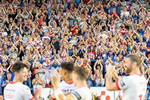 St Helens say stewards will mingle with fans at the home game against Wigan. Picture: SWPix