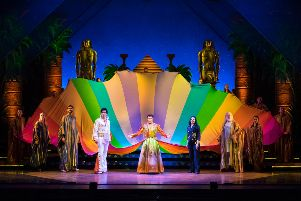 Joe McElderry is starring in the lead role on a UK tour of Joseph and the Amazing Technicolor Dreamcoat.