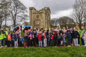 Some of those taking part in Naill's Miles event at Hylton Castle Sunderland, on Sunday