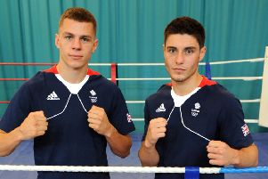 Wearside boxers Josh Kelly (right) and Pat McCormack (left)