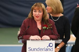 Labour's Sharon Hodgson is announced as the winner of the Washington and Sunderland West seat.''Picture by Tom Banks