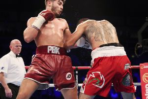 Josh Kelly in action against Zuniga