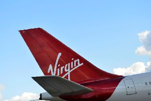 Virgin Airlines. Picture by PA
