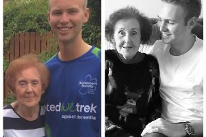 Connor Georgeson with his grandmother Margaret Dunkley