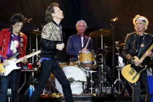 Ronnie Wood, Mick Jagger, Charlie Watts and Keith Richards of the Rolling Stones during their gig at the Murrayfield Stadium. Picture: PA.