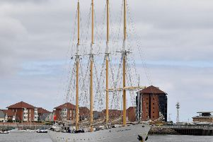 The Tall Ships - including the Santa Maria Manuela - have started arriving in Sunderland.
