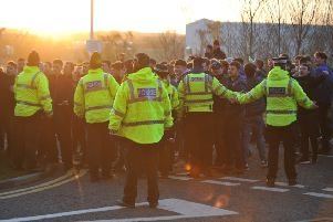 Nearly 600 police officers were on duty for the Sunderland v Middlesbrough game in February.