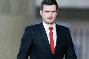 Adam Johnson outside Bradford Crown Court during his trial