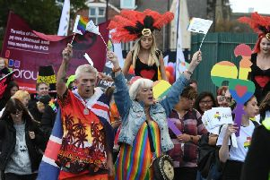 Many people wore colourful clothes and costumes for the parade through Sunderland city centre.