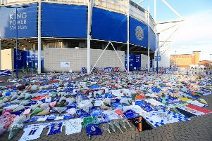 Tributes at Leicester City Football Club