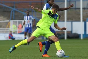 James Butler in action against Pools.