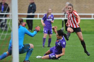 FA Womens League Football between Sunderland Ladies and Stoke City Ladies, played at Eppleton CW, Hetton-le-Hole.