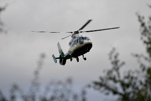 The Great North Air Ambulance was called to help treat the patient.