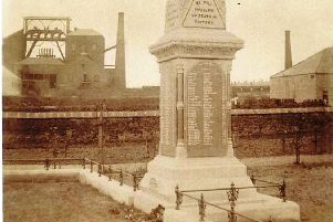 The memorial to the 1880 Disaster in the Christchurch Miners Garden of Remembrance.