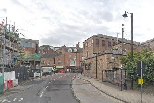 Police closed off Millburngate following concern for a man earlier on today. Image copyright Google Maps.