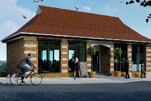 An artist's impression of how the former Bay Shelter at Seaburn could look as a cafe or restaurant.