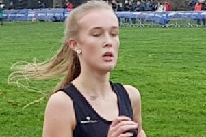 Easington's Nicole Phillips, first in the Inter Girls category.