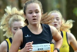 Eva Hardie, who led Houghton Harriers to bronze medals.