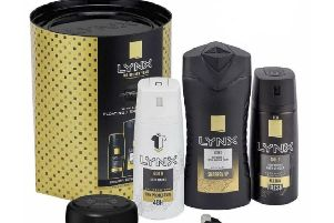 The Lynx Gold gift set with shower speaker that has been recalled due to safety concerns with the charging lead.