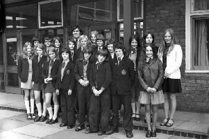 Pupils and teachers from Pennywell School in 1974.