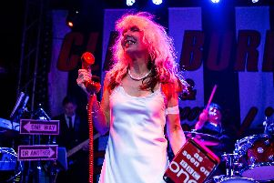 Debbie Harris led Bootleg Blondie through a selection of Blondie's early songs, as well as the big hits. All pics: Mick Burgess.