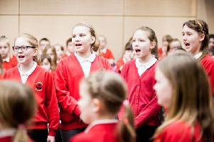Pupils from Barnwell Academy taking part in a previous Sunderland Schools Singing Festival.