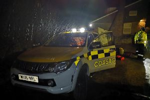 Emergency services at the scene this morning. Picture: Sunderland Coastguard Rescue Team