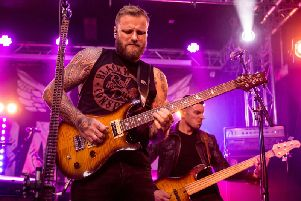 Former MMA fighter Kris Barras is enjoyed a second career as a blues guitarist. All pics: Mick Burgess.