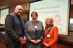 Simon Marshall, Lorraine Petersen and Anne Hayward at the SEND conference.