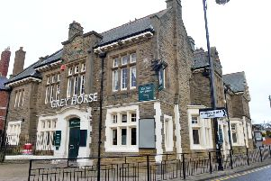 The Grey Horse is a landmark building in the village.