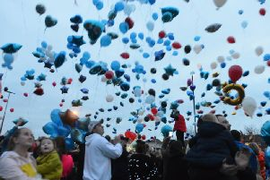 Friday's balloon release in memory of Connor Brown.