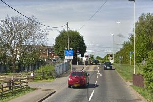 The collision happened at the level crossing in Tile Shed Lane, Boldon. Image copyright Google Maps.