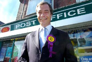Nigel Farage on the UKip campaign trail in 2015.