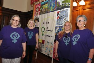 Members of the Women's Banner Group are calling for people to join in its blue plaque campaign.