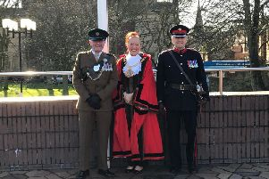 Captain Robert Towers (8 Rifles) was among those joining Mayor of Sunderland Coun Lynda Scanlan and Deputy Lieutenant of Tyne and Wear Norman Taylor MBE at the ceremonial raising of the Commonwealth Flag