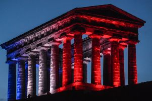 Penshaw Monument will glow red tonight as it welcomes 100 walkers at midnight.