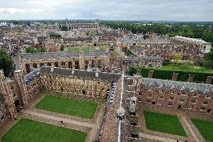 The buildings of Cambridge University from above. Picture: PA.