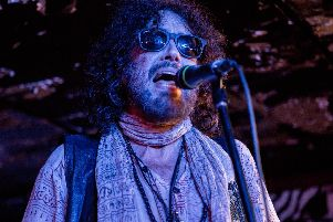 Electric Boys frontman Conny Bloom performing at Think Tank in Newcastle. Pic: Mick Burgess.
