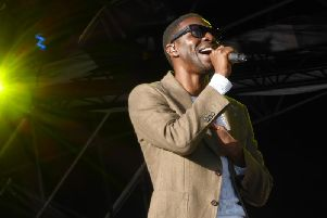 Lighthouse Family singer Tunde Baiyewu performing at the Mouth of the Tyne Festival in 2016. Pic: Jane Coltman.