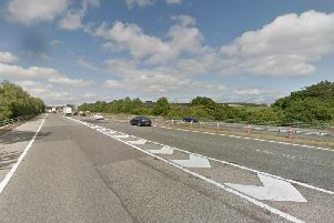 The collision happened on the A1(M) northbound near Durham. Image copyright Google Maps.