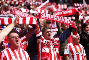 Sunderland supporters at Wembley. Getty Images.