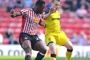 Lamine Kone in action for Sunderland last season.