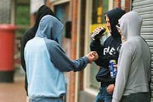 Police dealing with an increase in youths drinking and causing trouble.