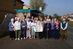 Oakfielkd Close residents are complaining of plans to axe the Number 36 bus at East Rainton, pictured at the bus stop in Silksworth Road