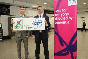 Andrew Ball from Alzheimers Society and Tobyn Hughes, Nexus .
