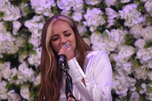 Jade Thirlwall performs at the Customs House event. Picture: Craig Leng Photography.