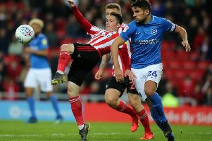 Bryan Oviedo in action against Portsmouth in the first leg.